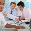 Dynamic young businessmen — Stock Photo #9963142