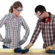 Stock Photo: DIY couple