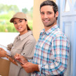 Womdelivering parcel — Stock Photo #9963346