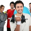Group of young sportsmen — Stock Photo