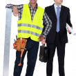 Stock Photo: Architect and contractor