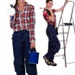 Two female interior decorators — Stock Photo