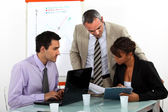 A team of business professionals working together — Stock Photo