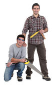 Portrait of a team of tradesmen — Stock Photo