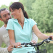 Couple on bike — Stock Photo #9970811