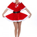 Noel Baba kostümlü baştan çıkarıcı blond — Stok fotoğraf