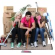 Fatigue in a move - Stockfoto