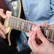 Close-up of guitar lesson — Stock Photo