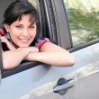 Happy woman driver — Stock Photo