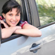 Stock Photo: Happy woman driver
