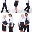 Montage of office workers — Stock Photo #9973527