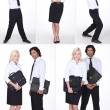 Montage of office workers — Stock Photo