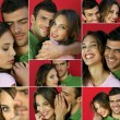 Montage of a young couple in love — Stock Photo #9973530