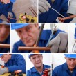 Stock Photo: Collage of tradesman