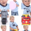 Little boy palying with his toys — Stock Photo