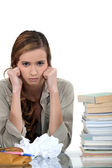 Overwhelmed student — Stock Photo