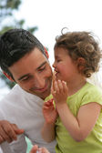 Father and daughter spending time together — Stock Photo