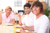 Lunch with friends — Stock Photo