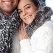 Stock Photo: Couple wearing winter clothing