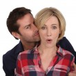 Man surprising woman — Stock Photo #9996805