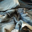 Stock Photo: Heap of jeans