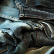 Heap of jeans — Stock Photo