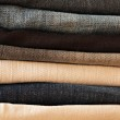 Folded Old Blue Jeans — Stock Photo