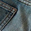 Stock Photo: Denim pants detail