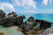 Chropowaty skały bermudy — Zdjęcie stockowe