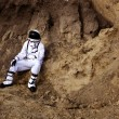 Astronaut on the Mars — Stock Photo