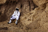 Astronaut on the Mars — Stockfoto