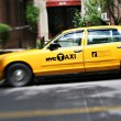Stock Photo: NYC yellow cabs