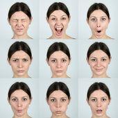 Výrazy obličeje — Stock fotografie