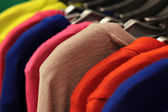 Colorful Knitted Tops Hanging — Stok fotoğraf