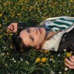 Girl in park — Stock Photo