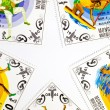 The original background of the stamps in the form of stars - ストック写真