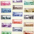 USSR - CIRCA 1958: Soviet stamps with the capitals of the republ - Foto de Stock