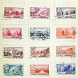USSR-CIRCA 1952-1961: Soviet stamps with the capitals of the aut - ストック写真
