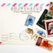 Concept of the old Soviet envelopes and antique stamps - Foto de Stock