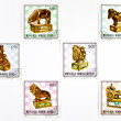Stock Photo: MONGOLI- CIRC1980: set of stamps dedicated to chess