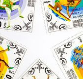 The original background of the stamps in the form of stars — Stock Photo