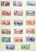 USSR-CIRCA 1952-1961: Soviet stamps with the capitals of the aut — Stock Photo