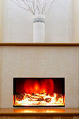 Electric fireplace — Stock Photo