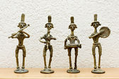 Four African statues — Stock Photo