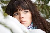 Güzel bir genç kız portre tatlı — Stok fotoğraf