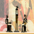 Three African figurines - Stock Photo