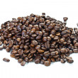 Stock Photo: A handful of coffee beans