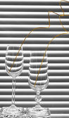 Two glasses with spiral branches — Stock Photo