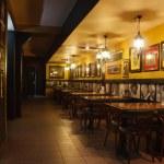 Interior of the billiard club night — Stock Photo
