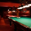 Interior of the billiard club night - Stock Photo